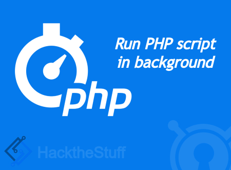 How to run a php script in the background